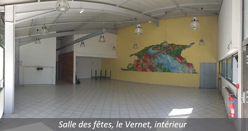 Salle des fêtes Le Vernet intérieur