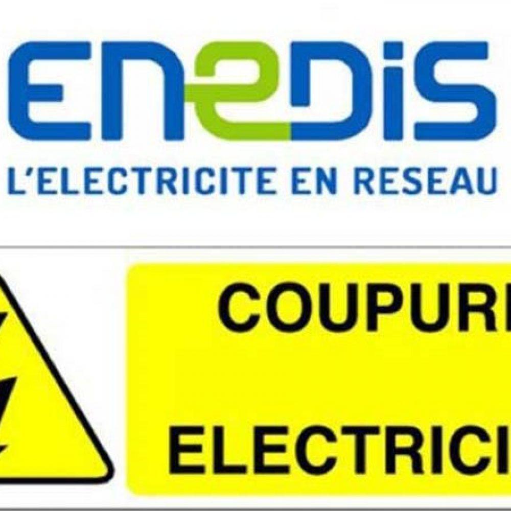 COUPURE D'ELECTRICITE LE 10 MARS ENTRE 8H30 ET 12H30 – RUE DE L'EGLISE, IMP.DES ACACIAS, CH.DU CHAUDEL, IMP.DU COULET